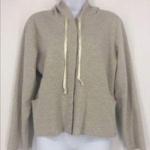 Eddie Bauer women's hoodie front snap closure M